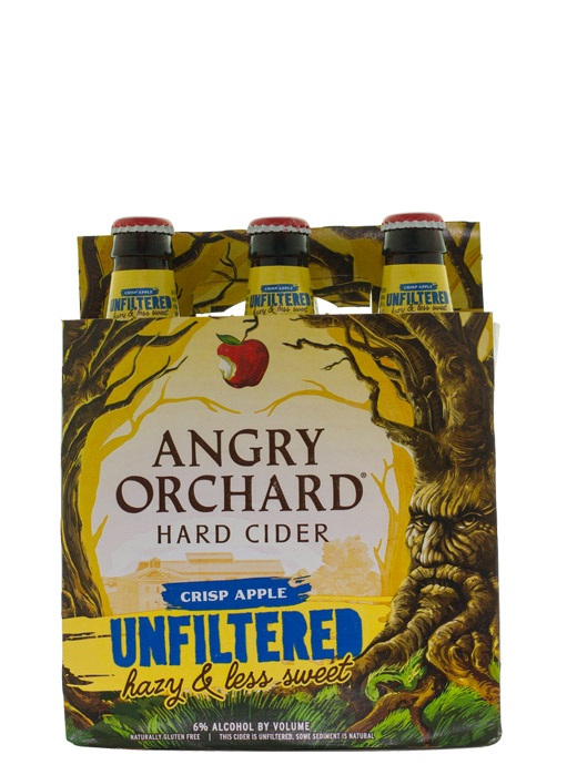 Angry Orchard Crisp Apple Unfiltered Hard Cider 6pk