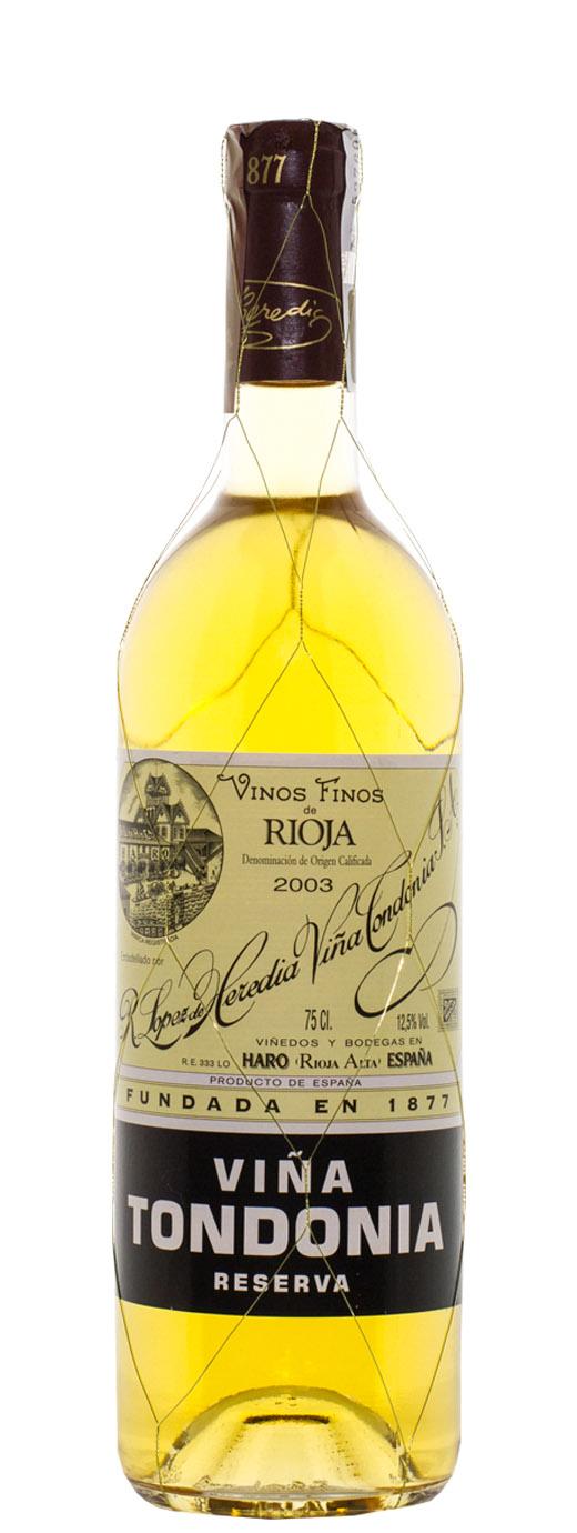 2003 Lopez de Heredia Vina Tondonia Blanco Reserva