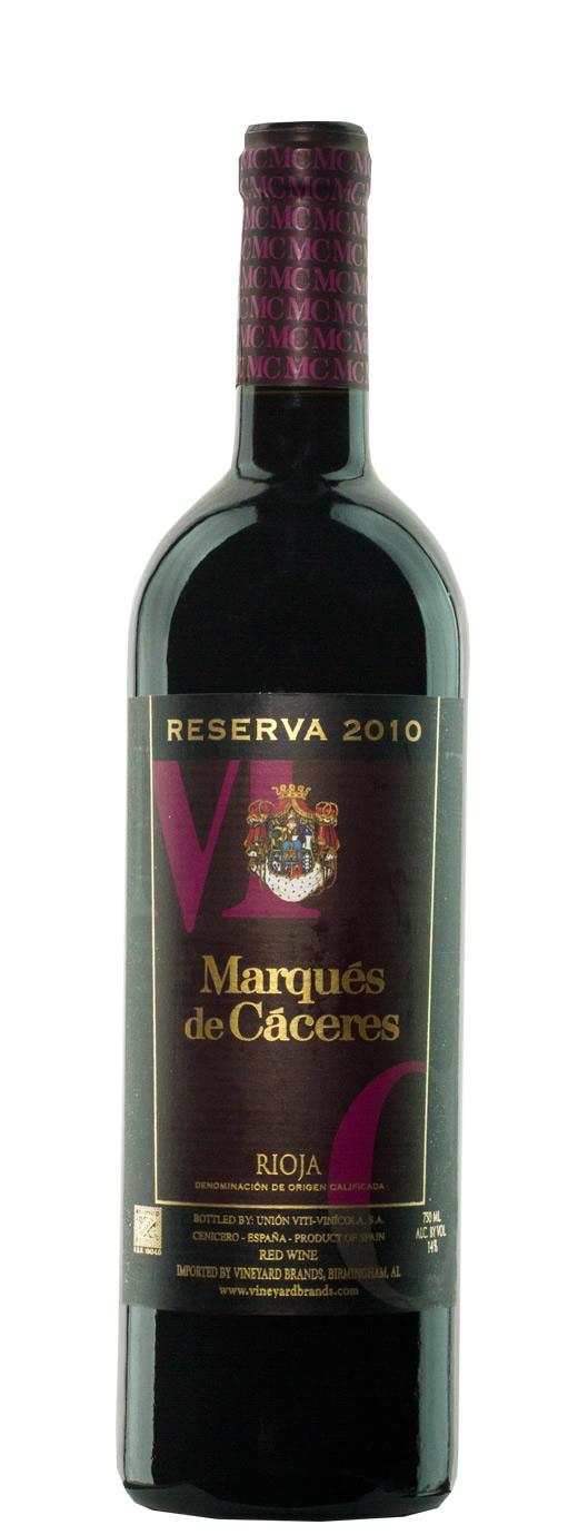 2010 Marques de Caceres Reserva