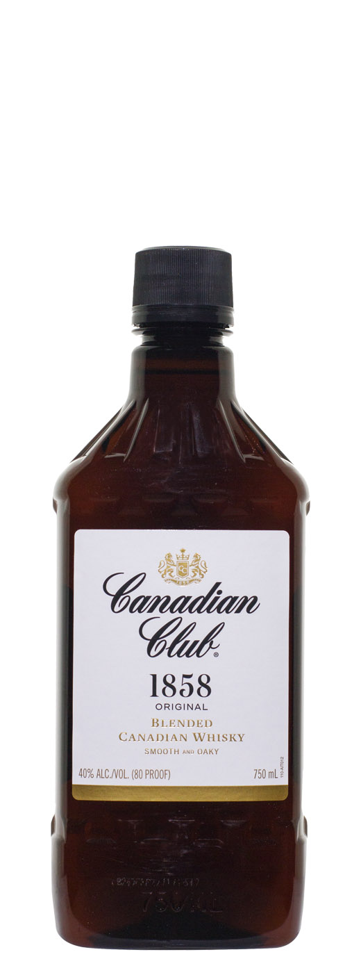 Canadian Club Canadian Whisky (Plastic Traveler)