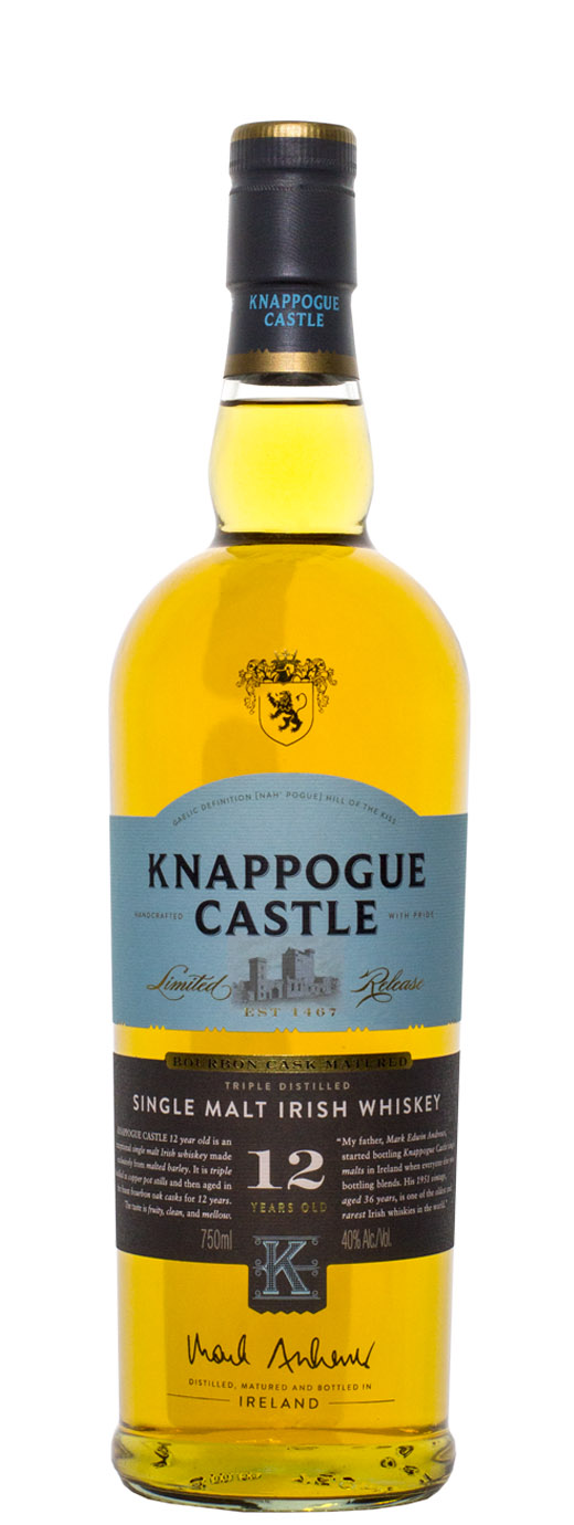 Knappogue Castle 12yr Bourbon Oak Cask Single Malt Irish Whiskey