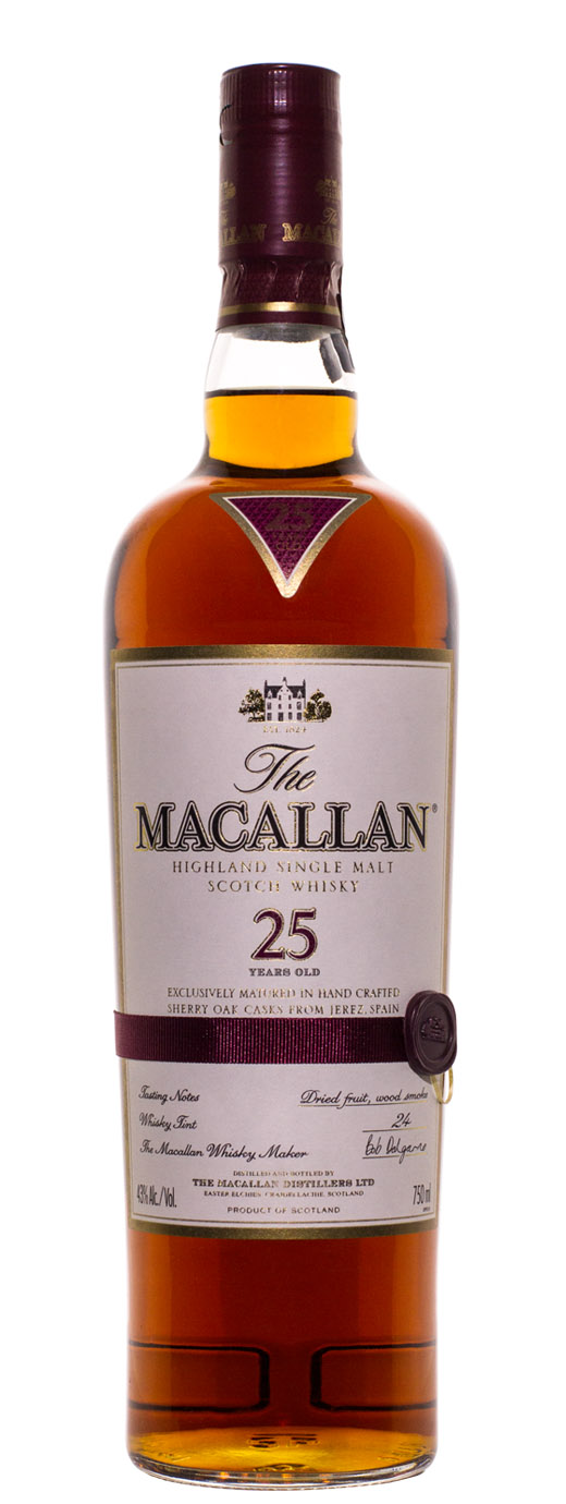 The Macallan 25yr Sherry Cask Single Malt Scotch