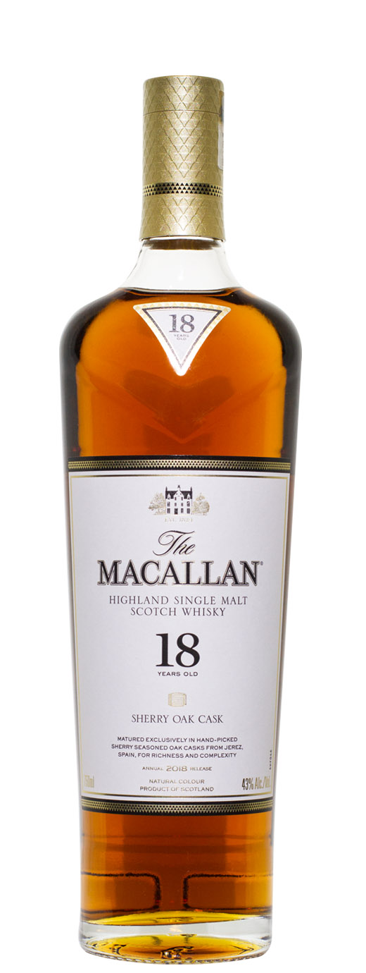 The Macallan 18yr Sherry Oak Cask Single Malt Scotch