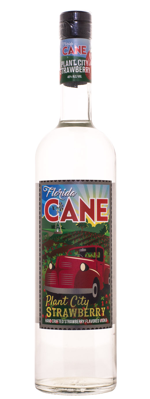 Florida CANE Plant City Strawberry Flavored Vodka