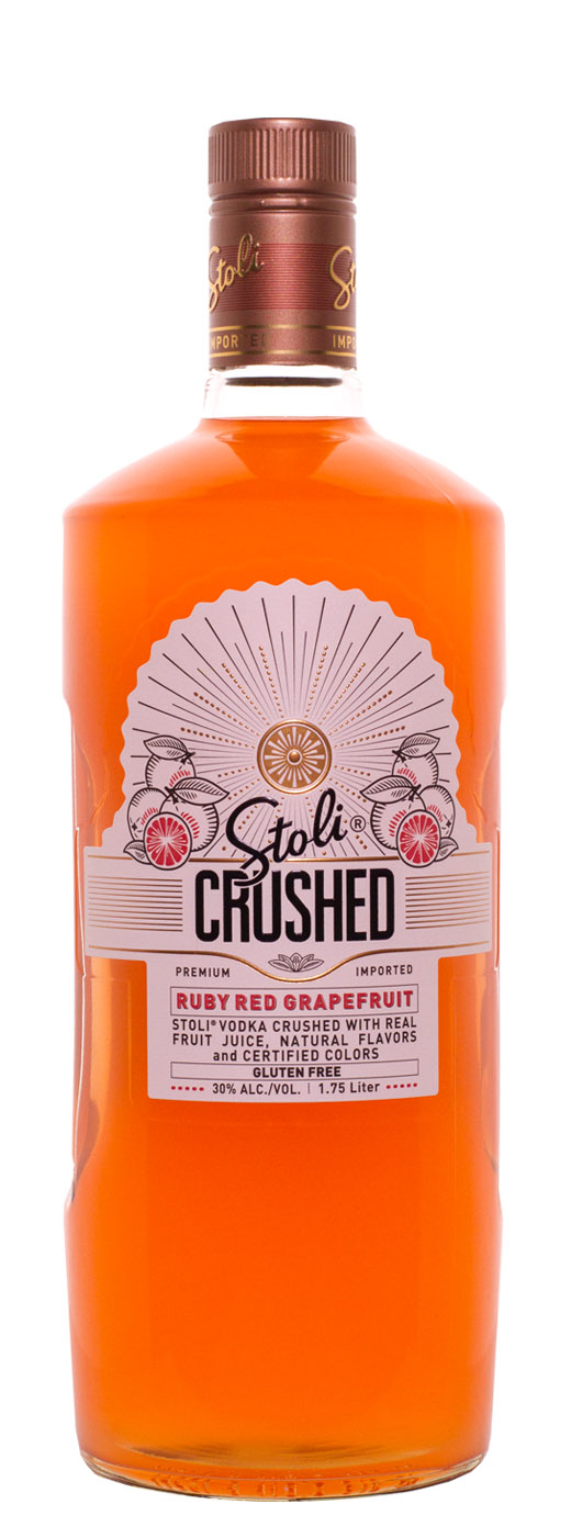 The Stoli CRUSHED Ruby Red Grapefruit Vodka
