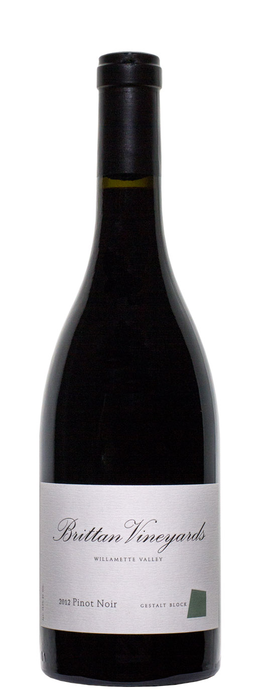 2012 Brittan Vineyards Pinot Noir Gestalt Block