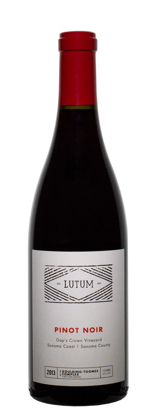 2013 Lutum Pinot Noir Gap's Crown