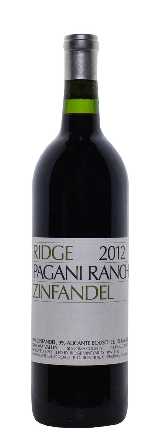 2012 Ridge Zinfandel Pagani