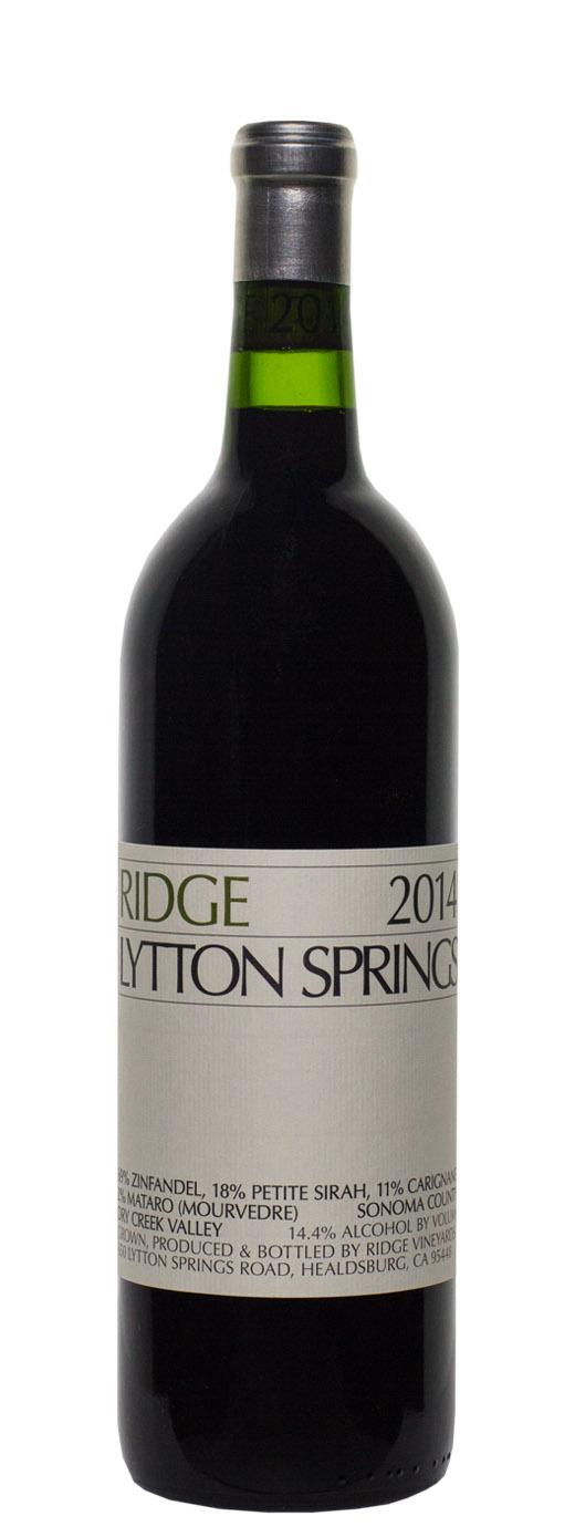 2014 Ridge Lytton Springs