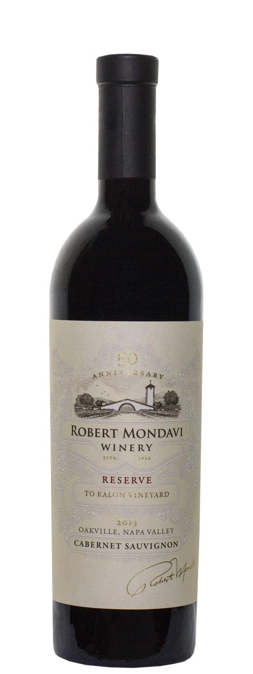 2013 Robert Mondavi Reserve Cabernet Sauvignon To Kalon Vineyard 50th Anniversary