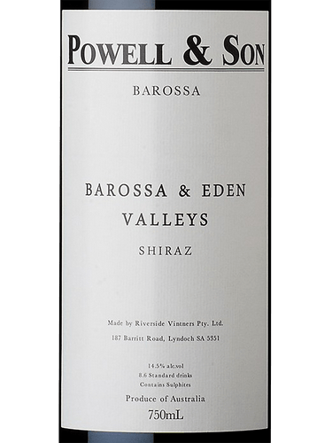2016 Powell & Son Barossa & Eden Valleys Shiraz