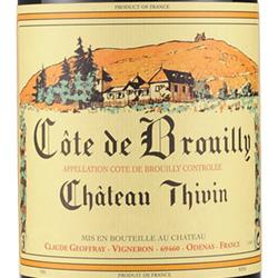 2013 Chateau Thivin Cote de Brouilly