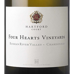 2015 Hartford Chardonnay Four Hearts